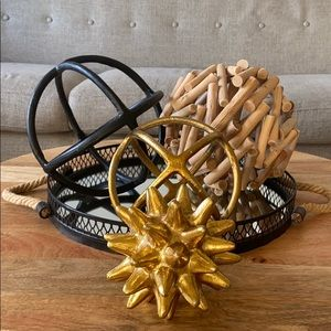 Anthropologie Urchin Gold Object